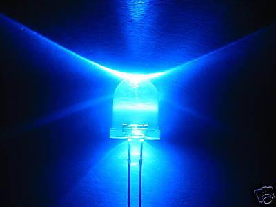 10mm 100pz LED GIALLI GIALLO ULTRALUMINOSI 80/'000mcd 2xA2C35