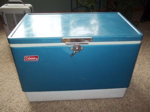 Vintage Coleman Cooler Blue Ebay