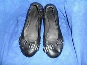 Womens Flat Black Shoes Size 6
