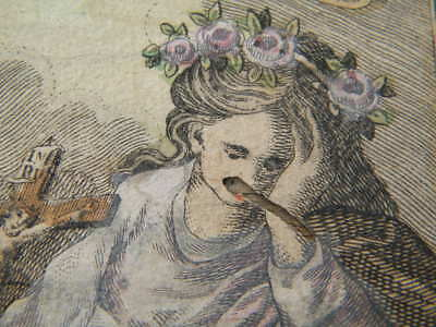 1810 BIEDERMEIER RAHMEN 16x20 ROSALIA PALERMO la Santuzza Stich Ignaz Eder Wien