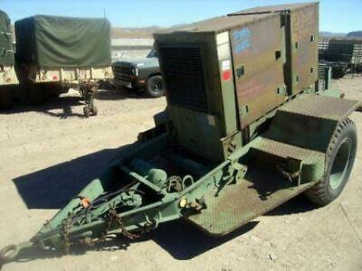 Us Army Surplus 30kw White Generator On Trailer Model D298er