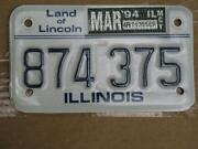 Illinois Motorcycle License Plate
