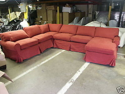 Pottery Barn PB Basic Sofa Sectional SLIPCOVER IN SIERRA RED CANVAS ONLY no sofa ()