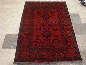 Exclusive Khal Muhamadi Afghan Hand Knotted Fine Rectangle Area Rug Wool Carpet (5.1 x 3.6)'