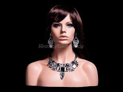 Female mannequin head to shoulder portrait style #MZ-H1