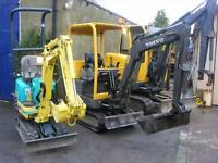 MINI DIGGER HIRE AND MICRO DIGGERS IN LEEDS QUALITY DIGGERS, SKIP LOADING DUMPERS, GRAB LORRY HIRE