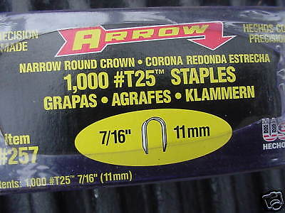 """Arrow  Type T 25   Staples  5,000 count  Beige in color  7/16"""""""