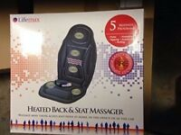 Lifemax Heated Back and Seat Massager 226R NEW!