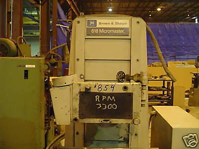 Browne And Sharpe 6x18 Mircomaster Surface Grinder 854