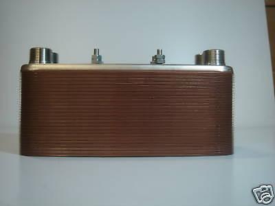 """50 Plate Outdoor Wood Furnace Heat Exchanger 1-1/4""""Port"""