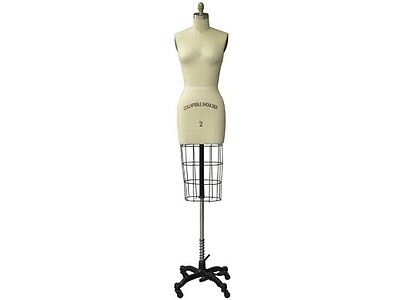 Professional Pro Female Dress Form Mannequin Pinnable Half Body Size 2arm