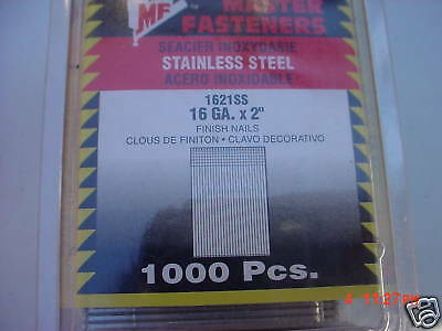 1000 Stainless Steel  2 Inch 16ga Finish Nails