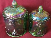 Carnival Glass Biscuit Jar