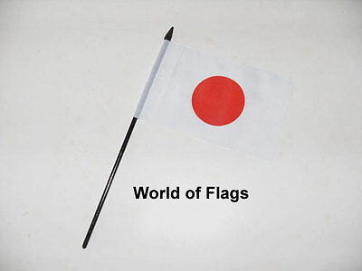 "JAPAN SMALL HAND WAVING FLAG 6"" x 4"" Asia Japanese Crafts Table Desk Display"