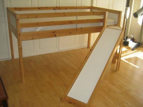 ikea vradal midsleeper childrens slide bed in pine white in gloucestershire gumtree. Black Bedroom Furniture Sets. Home Design Ideas