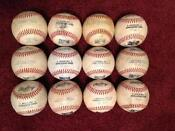 Used Minor League Baseballs