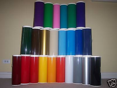 "12""  General Formulations Vinyl (Craft hobby/sign), 5 Rolls@ 5' Ea. (40 Colors)"