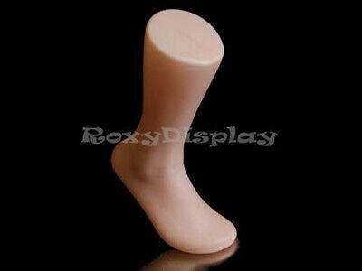 Male full round plastic mannequin foot.