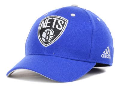 Brooklyn Nets Adidas NBA ALT Jersey Stretch Fit Cap Hat S/M  L/XL Authentic New