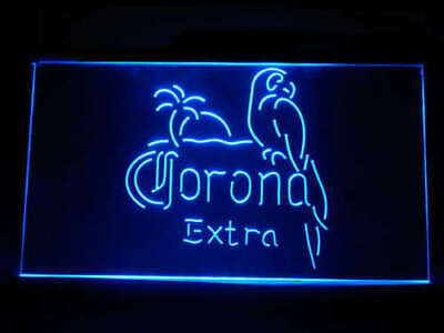neon  light sign corona extra beer pub bar man cave