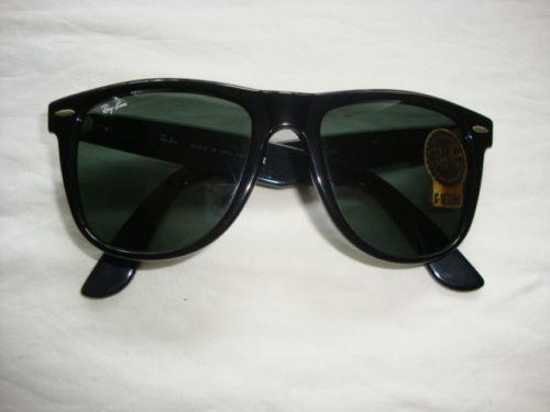 ray ban round metal 1980s vintage sunglasses  ray ban wayfarer b&l