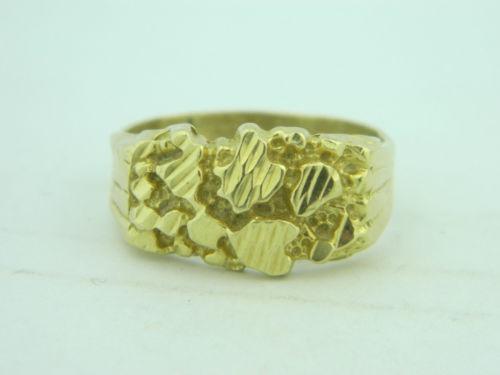 Mens Gold Nug Ring