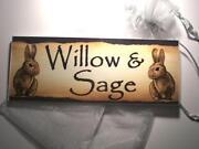 Rabbit Hutch Name Plaques