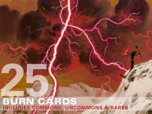 25x Burn Cards (includes Rares!) Mtg Magic - 25 Burn Spell Lot Collection Deck