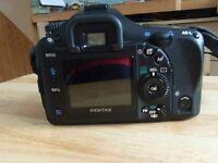 Pentax K K10D 10.2MP Digital SLR Camera - Black with 2 lenses
