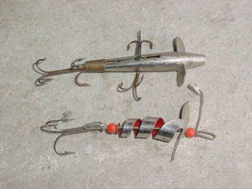 Antique metal fishing lures ebay for Old fishing lures on ebay