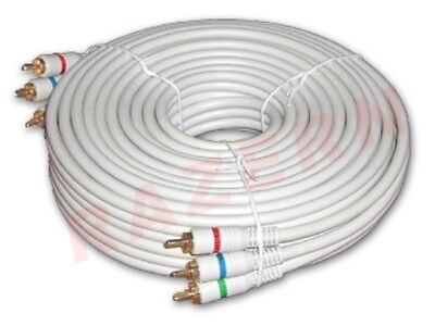 Component Video Cable Gold Plating - NEW 25 ft Steren gold plated 3-RCA component video cable DVD HDTV
