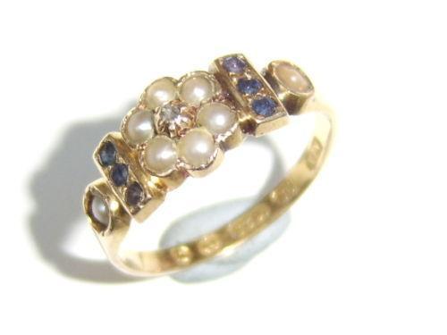 Antique Pearl Ring Ebay