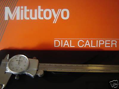 New 6 Mitutoyo 505-742 Dial Caliper Wcase