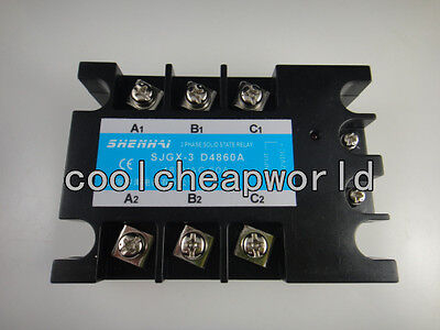 Three Phase 3phase Dc Ac Solid State Relay Ssr-60a 60a