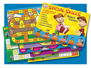 Smart Kids Six Social Skills Board Games - Literacy **New**