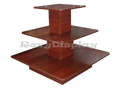 3tier Table Cherry Color Clothing Clothes Display Racks Stands 3tier48c-rk