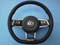 Genuine golf gti mk7 flat bottom steering wheel