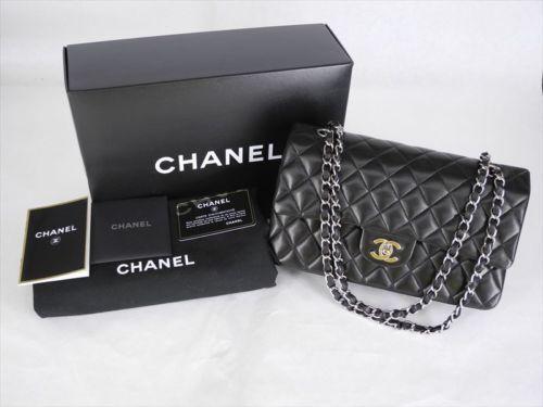 chanel handbag silver chain ebay