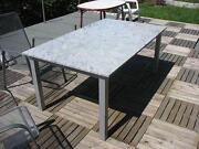 Gartentisch Edelstahl Granit