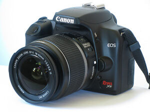 Canon Rebel XS camera and lenses