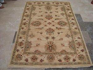 Wonderful Chobi Zeiglar Mahal Rectangle Rug Ghazni Wool Hand Knotted Carpet (6.8 x 4.5)'