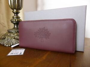 Mulberry Blossom Zip Around Wallet (Large, Clutch) in Oxblood