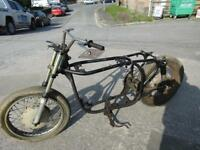 NORTON ATLAS SLIM LINE FEATHERBED ROLLING CHASSIS IDEAL FOR TRITON PROJECT 1967