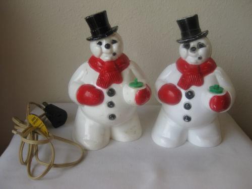 Ceramic Christmas Tree Plastic Lights