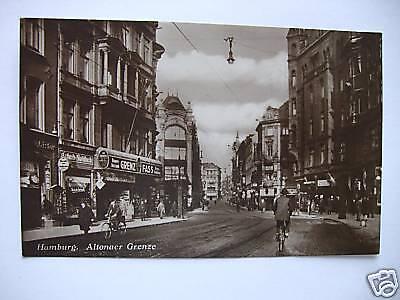 AK Hamburg Altonaer Grenze 1928
