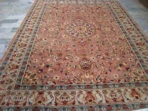 Chirag Floral Gorgeous Designed Area Rug Hand Knotted Wool Silk Carpet (6 X 4)'