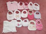 Baby Bibs Lot Girls