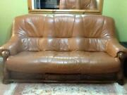 Wooden Leather Sofa