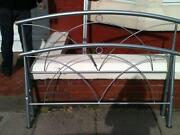 Metal Double Bed with Mattress