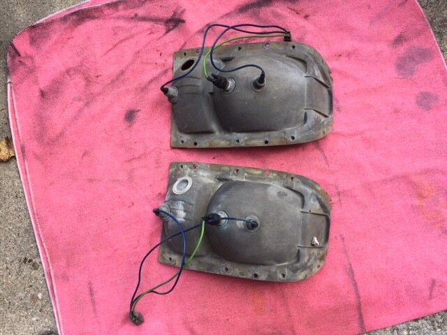 1963 BUICK RIVIERA TURN MARKER LIGHT HOUSINGS COMPLETE WITH WIRES
